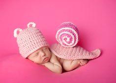 Newborn Snail Baby Photo Prop by MadhatterknitsCo on Etsy, $30.00
