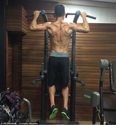 Cristiano Ronaldo insisted there were 'no days off' on his Instagram page as he took to the gym on Monday
