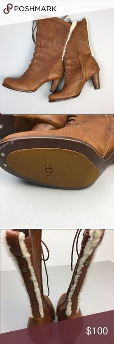 UGG leather heeled boots Super cool never worn boots. Very stylish. UGG Shoes Heeled Boots