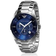 3093ad26be2a1 Armani Emporio Quartz Chronograph Blue Dial Men's Watch Visit store to see  price/if you have to ask you cant afford it.