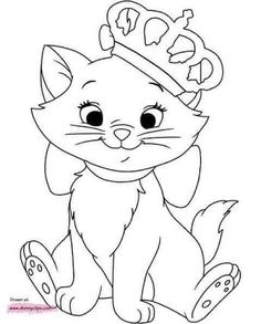Disney Aristocats Marie Coloring Pages