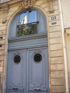 paris blue front doors