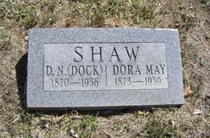 Dock Newton Shaw (1866 - 1932) - Find A Grave Photos