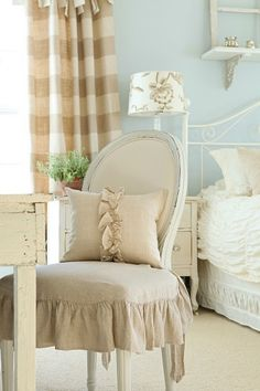 love love the muted soft color tone and those buffalo check curtains