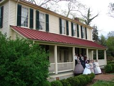 Burwell School Historic Site, 319 N. Churton St.   Part I of our wedding day.