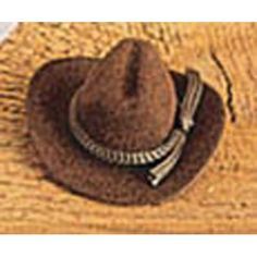 Bulk Buy: Darice DIY Crafts Cowboy Hat Brown Velvet 4 inches (12-Pack) 12730-250 * You can get more details by clicking on the image.
