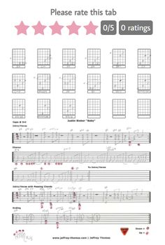 New rating system added for my guitar, bass and ukulele tabs! 5 Star Me! www.jeffrey-thomas.com