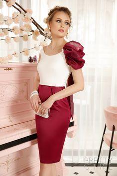 The Lady Pearls Dress Waist Skirt, High Waisted Skirt, Pearl Dress, Marsala, Girl Fashion, Spandex, Lady, Spring, Pretty