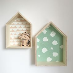 Display a little one's treasure in style with these cute printed plywood houses! They can sit on a shelf or hang on a wall. Look great solo or...