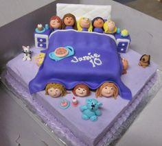 Slumber Party Birthday Cake