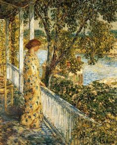 Listening to the Orchard Oriole, Frederick Childe Hassam 1859-1935,  Its About Time: Gardens from France to America: