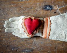 Heart and Hand pen wipe ( and sand dollar and starfish) from collection of Edwa Wise