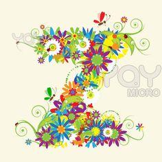 Image Detail For Letter Z Floral Design