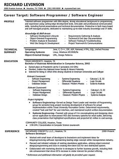 software engineer resume includes many things about your skills education awards and also what - Software Engineer Resume Samples