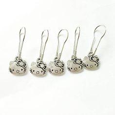 Hello Kitty Crochet or Knitting Stitch markers https://www.etsy.com/listing/525251258/hello-kitty-crochet-or-knitting-stitch