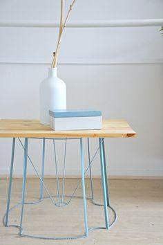 DIY récup : comment réaliser une table basse à partir d'un abat jour ? Toutes les explications sur joli chahut.