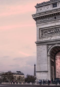 Pink light in Paris.