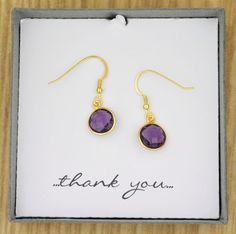 Genuine Purple Amethyst Semiprecious Gemstone by ThePinkLamShop