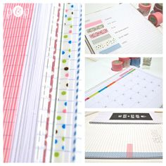DIY notebook with washi tape