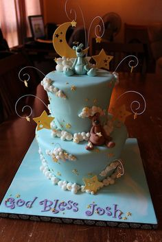 Cloud, Moon and stars cake by Andrea's SweetCakes, via Flickr
