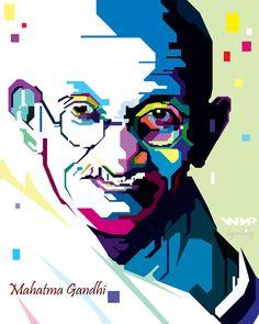 Mahatma Gandhi WPAP podle mbleg25