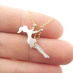Girl Swinging on a Swing Charm Necklace