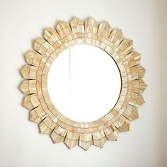 Most recent purchase for the redo - Love it! Bone Sunburst Mirror