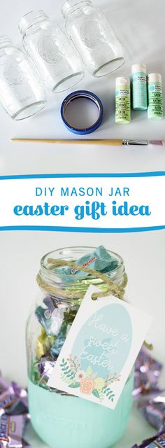 Sweeten spring in the best way we know how—with this DIY Mason Jar Easter Gift Idea! Use pastel-colored paint to create a present for your friends, family—and even your kids' teachers—that's an adorable take on the traditional Easter Basket. Fill each one with Easter Minis Mix and decorate with one of these printable gift tags for a charming present you know they'll love. Don't forget to pick up all the supplies you'll need at Kroger.