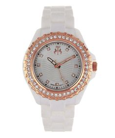 Take a look at this Jivago Silver & Rose Gold Cherie Watch - Women on zulily today!