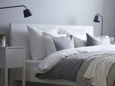 ikeaus nordli headboard is angled making it comfortable to lean against it comes in