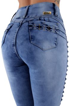 3254bb6155d price  US  14.99 Colombian Design Butt Lift Push Up Mid   High Waist Skinny  Denim