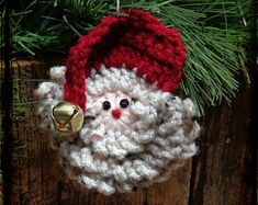 primitive christmas tree garland to crochet | Primitive Christmas Ornament, Primitive Santa Ornament, Christmas Gift ...