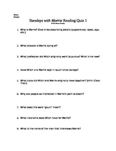 tuesdays with morrie 5th 8th tuesday review pinterest tuesday rh pinterest com tuesday with morrie study guide answer key tuesdays with morrie study guide answers