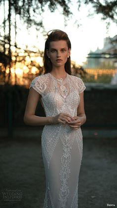 Berta Bridal 2016 #WeddingDress repinned by wedding accessories and gifts specialists http://destinationweddingboutique.com