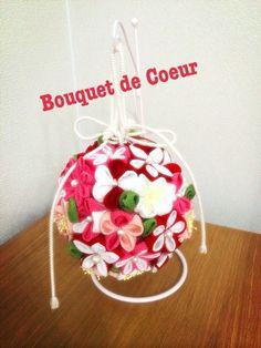 結婚式和装前撮り♡オーダーメイドボールブーケ&ヘアアクセサリー Handmade flower bouquet and head dress for Japanese style wedding