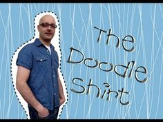 Take a button down shirt (key for easy movement) and freestyle stitch with different colors and stitches. Way to refashion a boring shirt. T Shirt Diy, Refashion, Confessions, Diy Tutorial, Doodles, Button Down Shirt, Guys, Mens Tops, Shirts