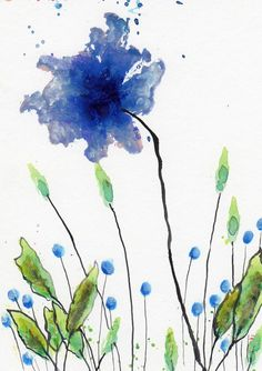 Watercolor is my fav watercolor flowers акварельная живопись Watercolor Cards, Watercolor And Ink, Watercolor Illustration, Watercolour Painting, Watercolor Flowers, Painting & Drawing, Watercolours, Art Floral, Watercolor Techniques