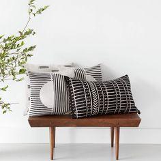 Minuit Mud Cloth Lumbar Pillow