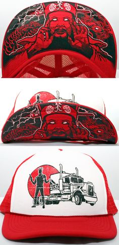 20da9e5524a 8-bit ZOMBIE Hats · Classic trucker stylings on the front. Ancient Chinese  magic under the brim. 8 Bit