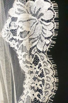 Stunning Wide Chantily lace trim available in white or ivory and on different lengths and widths. All Irish made Bridal Veils  and special lengths etc available. Made in Dublin, Ireland. Angel crystals can be added .