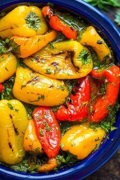 Marinated Mini Sweet Peppers Recipe (VIDEO) - Natasha's Kitchen