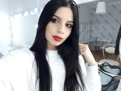 #selfie #black #white #redlipstick