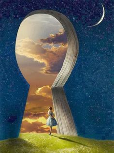 Reminds me of Alice at the portal to wonderland Fantasy Kunst, Fantasy Art, Dream Fantasy, Fantasy Posters, Fantasy Castle, Dream Art, Art Et Design, Vladimir Kush, Fantasy World