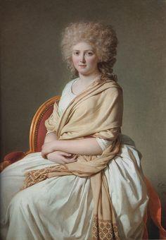 Jacques Louis David, Portrait of Anne-Marie-Louise Thélusson, Comtesse de Sorcy, 1790