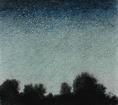 Pencil Drawing Techniques How to Draw a Night Sky - Finishing Touches - Step-by-step tutorial describing how to draw a night sky with colored pencil. Includes tips on drawing stars, getting deep color, and dark values. Drawing Sky, Drawing Stars, Night Sky Stars, Night Skies, Colouring Techniques, Drawing Techniques, Love Drawings, Pencil Drawings, Pencil Drawing Tutorials