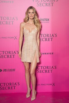 Bridget Malcom attends the 2016 Victoria's Secret Fashion Show after party at Le Grand Palais on November 30 2016 in Paris France