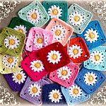 Daisies Square FREE Granny Square Pattern