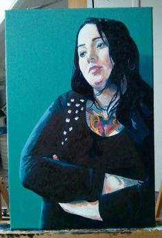 'Tirza in studded top' by Dr. Mata Haggis, 2013. Oil on Canvas. 40x60cm