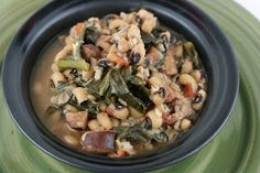 Start 2013 off on the right foot with Hoppin' John! Black Eyed Peas and Collard Greens are supposed to bring good luck and prosperity! :-)