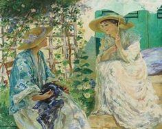 Two Ladies in the Garden, 1913 ~ Rupert Charles Wulsten Bunny ~ (Australian: 1864-1947)